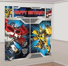 Transformers Optimus Bumblebee Birthday Party Scene Setter Wall Decorating Kit
