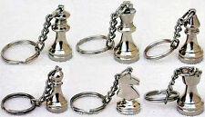 Schlüsselanhänger mit Schachfiguren in Silber