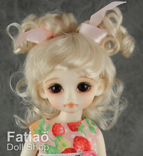 Blonde Mohair Doll Wig Dollfie Yo-SD 1/6 BJD 6-7""