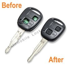 Toyota Mr2 Corolla Hilux 2 button faulty broken remote key REFURBISHMENT SERVICE