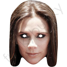 Victoria Beckham Long Hair Celebrity Singer Card Mask, All Our Masks Are Pre-Cut