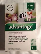 ADVANTAGE green 2 TUBES small cats or rabbits 3- 10 pounds ( 4kg)