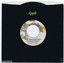 Wings 45 Mary Had A Little Lamb 1972 NM Paul McCartney USA Apple 1851 As New