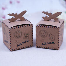 50xAir Plane Candy Boxes Wedding Favors Candy Box Casamento Baby Shower Gift Box