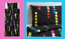 IKEA Suddig Twin Duvet Cover/Pillowcase Black Yellow Green Red Pink Blue Cube