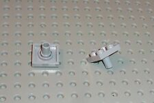 LEGO - PLATE, Modified 2 x 2 with Pin Bottom, LIGHT BLUISH GREY x 2 (2476) PM298