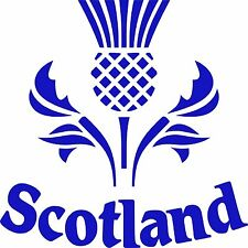 traditional scottish thistle scotland scots vinyl car sticker decal graphicpipes