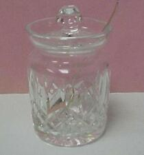 Lead Crystal Jam/Jelly Jar with Sterling Silver Spoon -12172