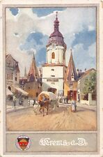 DEUTSCHER SCHULVEREIN 1880 GERMAN SCHOOL ASSOCIATION ARTIST DRAWN POSTCARD 1910s