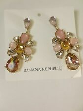 Banana Republic Peach Teardrop cluter teardrop Cluster Earrings NWT 49.50 Set 2