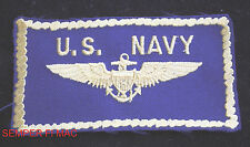 US NAVY PILOT WING HAT PATCH NAVAL AVIATION AVIATOR VETERAN SOLO GIFT USS WOW