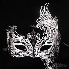 Swan Filigree Metal Mardi Gras Venetian Masquerade Mask for Women [Silver]