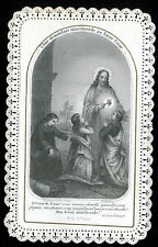 ANTIQUE LACE HOLY CARD COMMUNION WITH JESUS