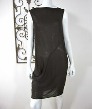 DKNY SLEEVELESS SHEER DRESS SIZE 8, BROWN