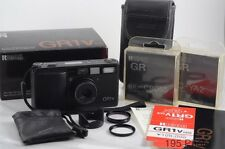 Ricoh GR-1V GR1v Date Black w/Box Hood Case 3Filter ** Excellent++ ** ( #1129)