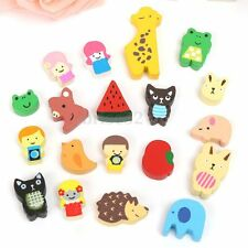 19X Wooden Cartoon Animal Magnet Sticker Refrigerator Fridge Kid Educational Toy