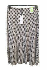 Marks and Spencer Floral Print Jersey Pull On Beige Mix Skirt Size 12