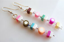 HANDMADE LUXURY STACKED DOLLY MIXTURE EARRINGS WITH GENUINE SWAROVSKI CRYSTALS