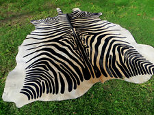 GORGEOUS NEW ZEBRA COWHIDE SKIN Rug Print Printed steer COW HIDE - DC5189 D9
