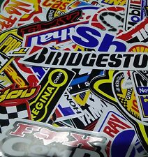 50Pcs Random Racing Sticker Vintage Decal Rare Original Motocross Motorcycle Lot