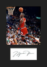 MICHAEL JORDAN #1 Signed Photo A5 Mounted Print - FREE DELIVERY