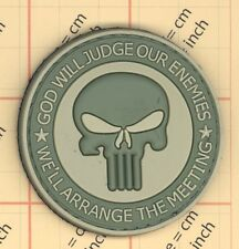 PVC VELCRO GOD WILL JUDGE OUR ENEMIES PUNISHER PATCH VELCRO INFIDEL NAVY SEAL