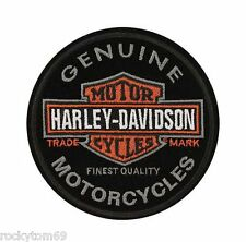 "Harley-Davidson Emblem, Long Bar & Shield, Patch EM312642-Size: 4"" x 4"""