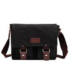 Men's Vintage Canvas Leather Shoulder Messenger Travel Bag School Bag Satchel C0