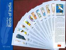 Bookmarks depicting stamps Birds of India, Miniature paintings, Flowers, theme