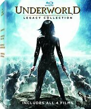 Underworld: The Legacy Collection (Blu-Ray, Movie, Vampires, 4 Films) NEW