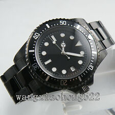 42mm Parnis sterial Black Dial PVD Case Mechanical Automatic Mens WRISTWATCH 011
