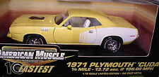 1971 Plymouth Cuda Yellow 1:18 Ertl American Muscle 32751