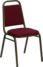 Commercial Quality Stackable Banquet Chairs With Burgundy Color Fabric