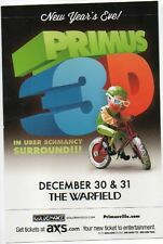 CRAZY MINT PRIMUS 3D MASQUERADE NEW YEARS BALL '13 SF WARFIELD THEATRE HANDBILL