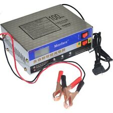 Car Motorcycle Intelligent Pulse Lead Acid Battery Charger 10A 12V/24V Universal