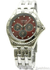 New Lorus Multi Function Day Date Men Dress Watch 44mm LR0727T