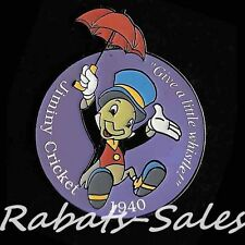 Disney Store Millennium Countdown Pin #83 Jiminy Cricket Give A Little Whistle