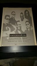 Earth, Wind, And Fire Spend The Night Rare Original Radio Promo Poster Ad Framed