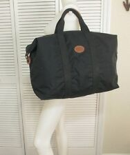 Longchamp Black Nylon Canvas Leather X Large Weekend Duffel Travel Bag Tote XLNT