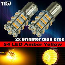 2X 1157 High Power Amber Yellow SMD LED Front Turn Signal Light Bulbs Lamp