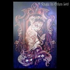 *PURPLE TATTOO LADY* Fantasy Art 3D Postcard By Alchemy Gothic (15x10cm)