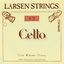 Larsen Cello String Set (A D G & C) Medium Tension 1/2 Half Size