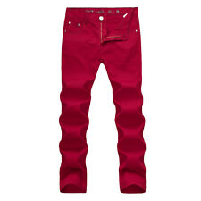 NEW MENS FOXJEANS DENIM MEN'S RED JEANS SIZE 36