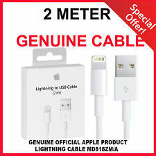 EXTRA LONG 1 X 2m Genuine Apple Lightning Charger Cable Iphone 5 C S SE 6 s iPad