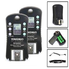 Yongnuo RF-605C LCD Wireless Flash Trigger for Canon Camera  RF-602 RF-603 II UK
