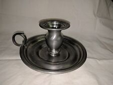Pewter Chamberstick Candlestick Holder WEB 1163 Vintage Weighted