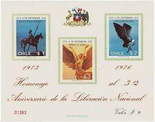 Chile 1976 Sheet - Third Anniversary Military Government Augusto Pinochet
