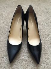 vanka Trump BONI Black Leather Pointy Toe Pump Size 8.5M