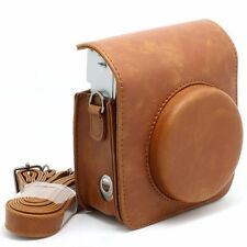 UK Vintage PU Leather Camera Shoulder Case Bag For FUJIFILM Instax Mini 90 Brown