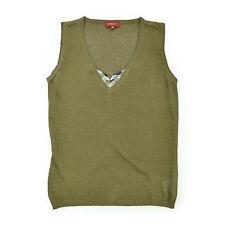 BURBERRY LONDON Damen Bluse UK40 EU S 36 Leinen Strech beige Woman Shirt Top NEU